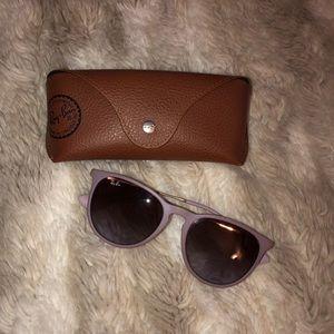 Lilac Ray-Ban sunglasses